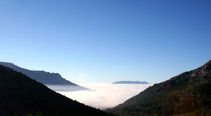 inversion over blanco valley
